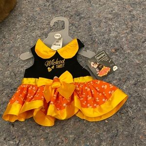 Brand new pet costume wicked sweet candy corn